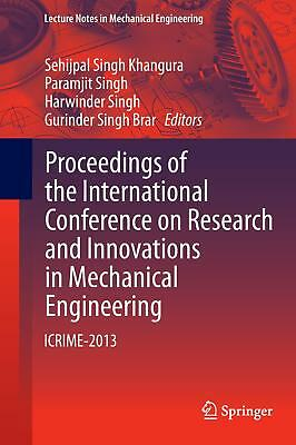 Proceedings of the International Conference on Research and Innovations in Mec..