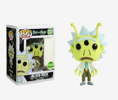 Funko POP! Rick And Morty Animation Alien Rick ECCC 2018 Exclusive #337 NEW