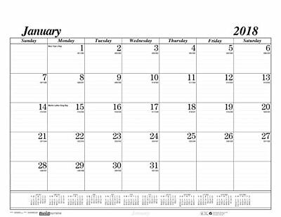 2018 Desk Pad Calendar Monthly Brownline Chipboard Large Office Planner 22 x 17