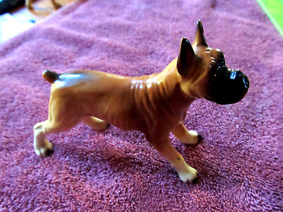 Vintage Ceramic Figurine Boxer Dog Figure Japan 1950's - 1960's Nice Condition