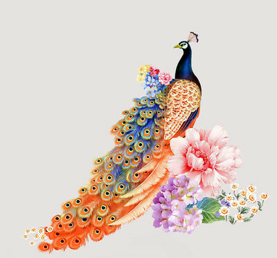 Beautiful peacock watercolor painting Wall art Canvas Home Decor Print Artwork