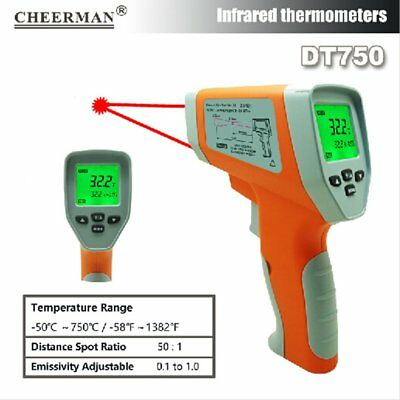 IR Infrared Thermometer DT8380H Laser Digital Non-Contact Temperature Meter MU