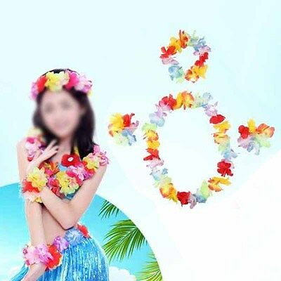 20X Hawaiian Lei Garland Flower Necklace Ladies Mens Tropical Fancy Dress Party