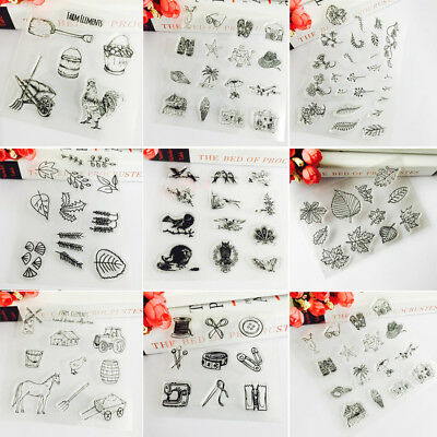 HOT Transparent Clear Rubber Stamps DIY Scrapbooking Embossing Album Card