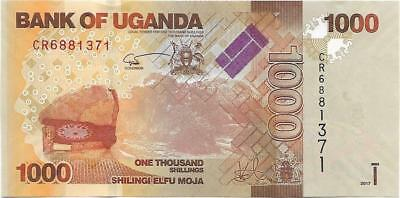 UGANDA 1000 Shillings, P- 49e, NEW ISSUE - (AU - UNC) from 2017; KUDUS