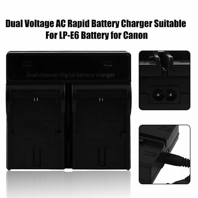 Dual Voltage AC Rapid Battery Charger Suitable For LP-E6 Battery for Canon AMU