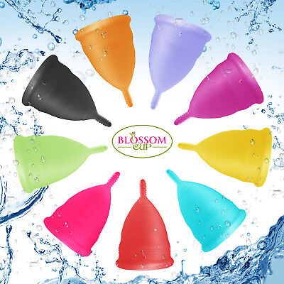 Blossom Menstrual Cup All Colors and Sizes. Love it or Money Back!