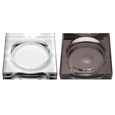 Modern Style Crystal Glass Ashtray with 4 Cigar Rests for Home Cafe Bar Decor IS