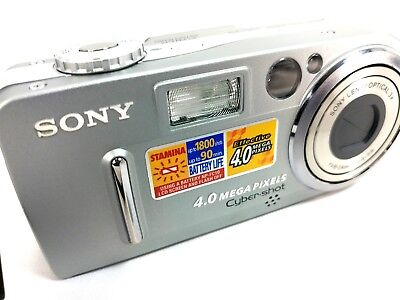 Sony Cyber-shot DSC-P9 4.0 MP Digital Camera - Silver no charger