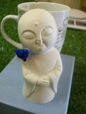 Jizo with Bluebird on his Shoulder, 120mm (4.75 inches)