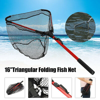 Lightweight Fishing Landing Net Fish Telescopic Aluminum Folding Pole 80cm