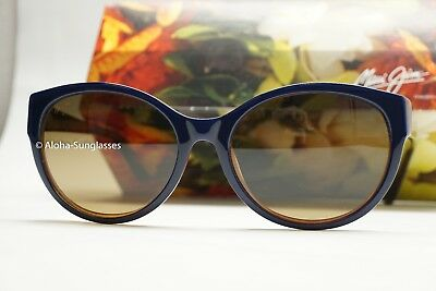 NEW Maui Jim VENUS POOLS HS100-03D Blue w / Rootber HCL lens Polarized Sunglass