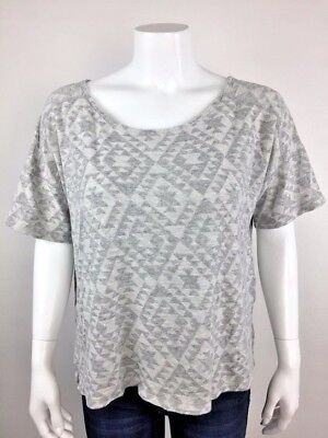 bc353af53767 OLD NAVY GRAY Endless Summer Beaded Fitted Tee Womens Size Large ...