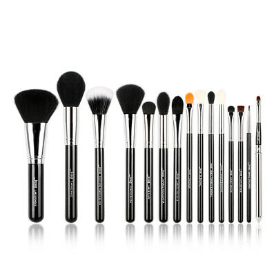 15pcs Pro Makeup Brushes set Foundation Blush Blending Pencil Brow Lip Jessup