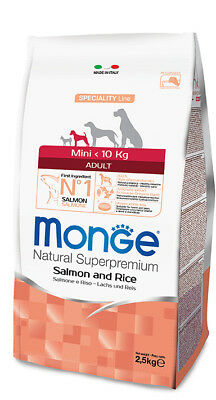 Monge Superpremium adult mini Salmone kg 2,5