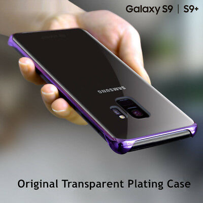 Original For Samsung Galaxy S9 Plus Plating Clear PC Hrad Case Transparent Cover