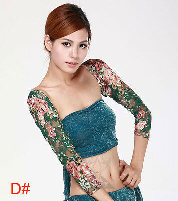 New Belly Dance Costume Flower gloves Armbands Arm Sleeve 5 colours