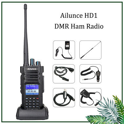 Ailunce HD1 GPS DMR Digital UHF/VHF 3000CH Intercom Transceiver Walkie Talkie AU