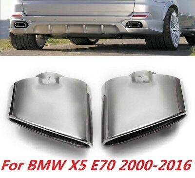 BMW Muffler Pipe Exhaust End Tips Covers for 2006 2007 2008 BMW X5 E70 E53