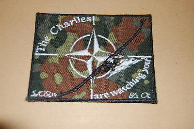 NATO Aufnäher Patch , Army , BW , Militär Selten Rare The Charlies are watching