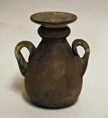 Ancient Roman Glass Vessel Handled, 1st - 3rd Century