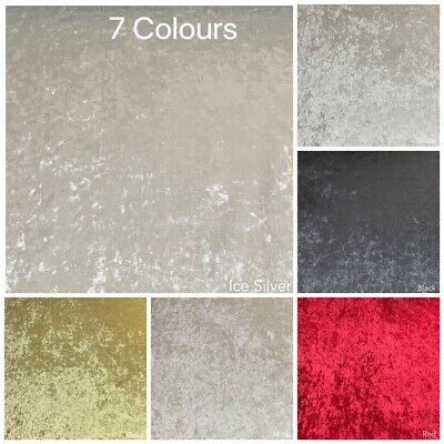 Luxury Bling Soft Crushed Velvet Upholstery Sofas Curtains Fabric 7 Colours