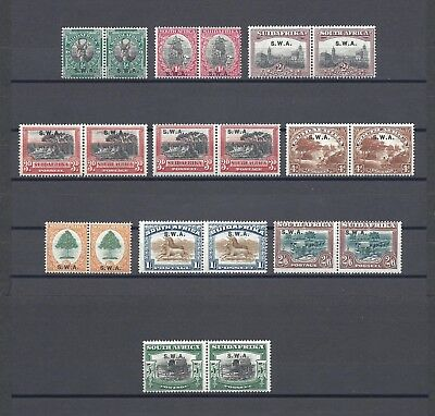 SOUTH WEST AFRICA 1927-30 SG 58/66  MINT  Cat £157.50