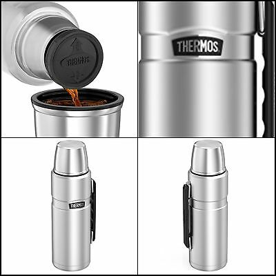 Thermos King Insulated Vacuum 40 Ounce Hot/Cold Beverage Bottle Stainless Steel