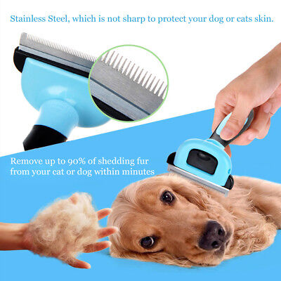 Pet Cat Comb Long Hair Deshedding Tool For Dogs Stainless steel Grooming Brush