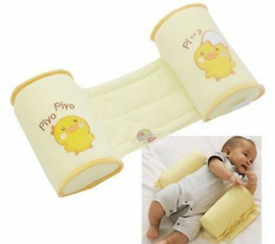 Infant Baby Toddler Safe 100% Cotton Anti Roll Pillow Sleep Flat Head Positioner