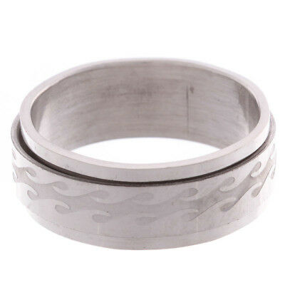 Jacks Spin Wave Ring in Silver