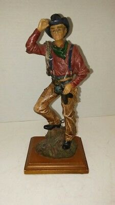 Resin Cowboy Figurine