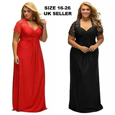 Women Plus Size Dresses Wedding Party Evening Ball Formal Ceremony