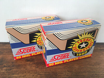 SCORE 1990 Young Superstars Hockey NHL Player Cards Lot of 2 Unopened Boxes Rare