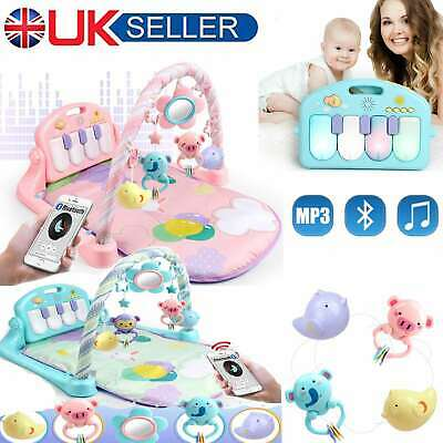 3 in 1 Baby Gym Play Mat Lay & Fitness Music Lights Fun Piano Boy Girl Unisex UK