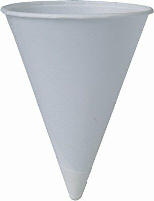 SOLO Cup Company 4BR 200 Piece Cone Water Cups Cold Paper White 4 oz. Tabletop