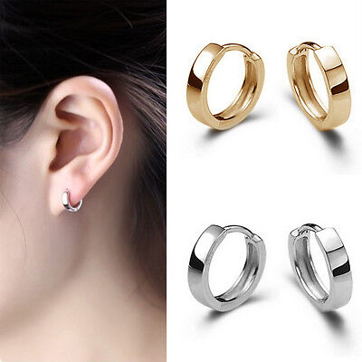 CHIC Fashion Jewelry Men Women Hoop Loop Huggie Ear Stud Earrings Punk