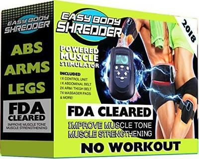 Easy Body Shredder Electric Ab Belt (2018 Version - FDA Cleared) Waist Trimming
