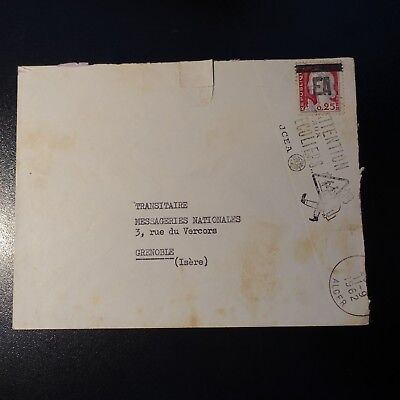Algeria Letter Cover Algiers Rp + Flamme Overload Stamp Ea Condition