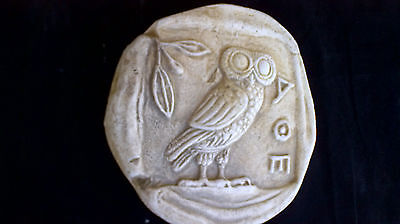 Owl of Athena a symbol of knowledge and wisdom Sculpture Relief artifact