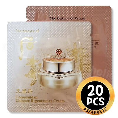 The history of Whoo Cheonyuldan Ultimate Regenerating Cream 1ml x 20pcs (20ml)