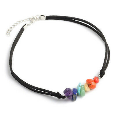 7 Color Beads Stone Chakra Choker Necklace Healing Gemstone Bracelet Jewelry