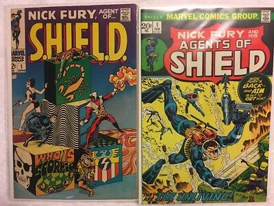 Nick Fury, Agent of SHIELD #1 and Agents Of SHIELD #1! Classic Steranko covers