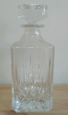 Glass Decanter Whiskey Sherry Brandy Liqueur Decanter 23cm tall