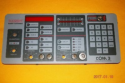 RAMSEY COM 3 Communication Service Monitor Front Panel and Front Cover.