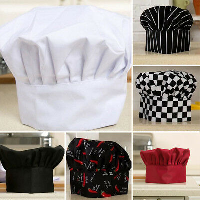New Chef Cook Adjustable Soft Pubs Comfy Cap Elastic Kitchen Baker Hat Catering