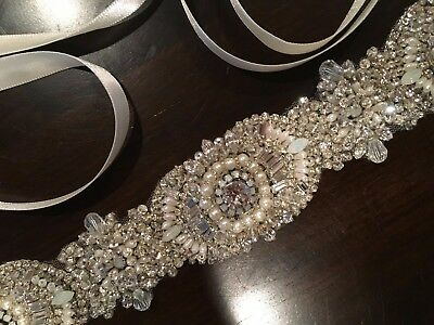 Wedding dress jeweled belt/sash - Haute Bride