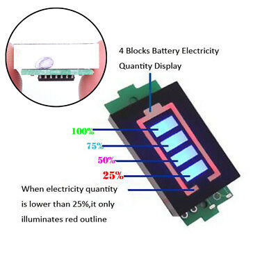 1Pcs 1S/2S/3S/4S Battery Power Tester Indicator Module Capacity LED Display