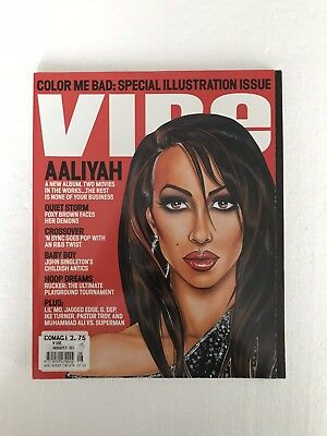 VIBE Magazine With Aaliyah On The Cover August 2001