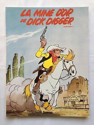 Lucky Luke La Mine D Or De Dick Digger 1 Fac Simile Bd 2011 / Morris / Dupuis